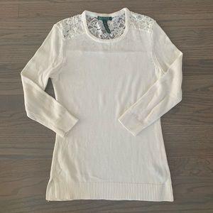 Lauren Ralph Lauren sweater with lace aplique